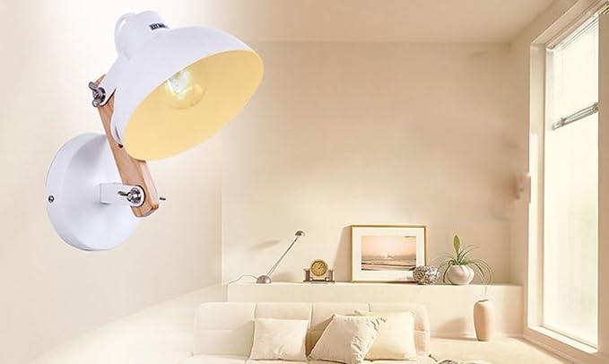 Applique lampada da parete in legno in ferro battuto lampada da