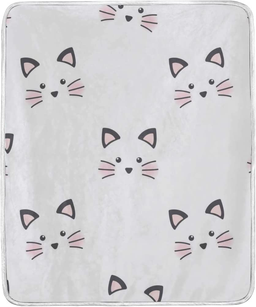 Amazon Com Cixuan Lovey Cartoon Cat Print Throw Blanket Comfort Design Home Decoration Lightweight Blanket For Kids Boys Women Men Perfect For Couch Sofa Or Travelling Home Kitchen
