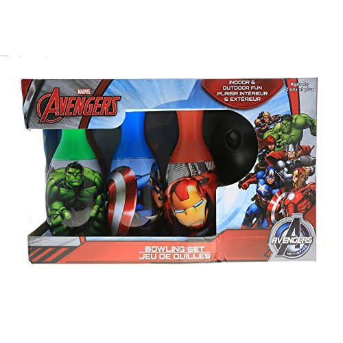 Avengers Bowling Set - Includes 6 Pins and Bowling Ball - Styles May Vary