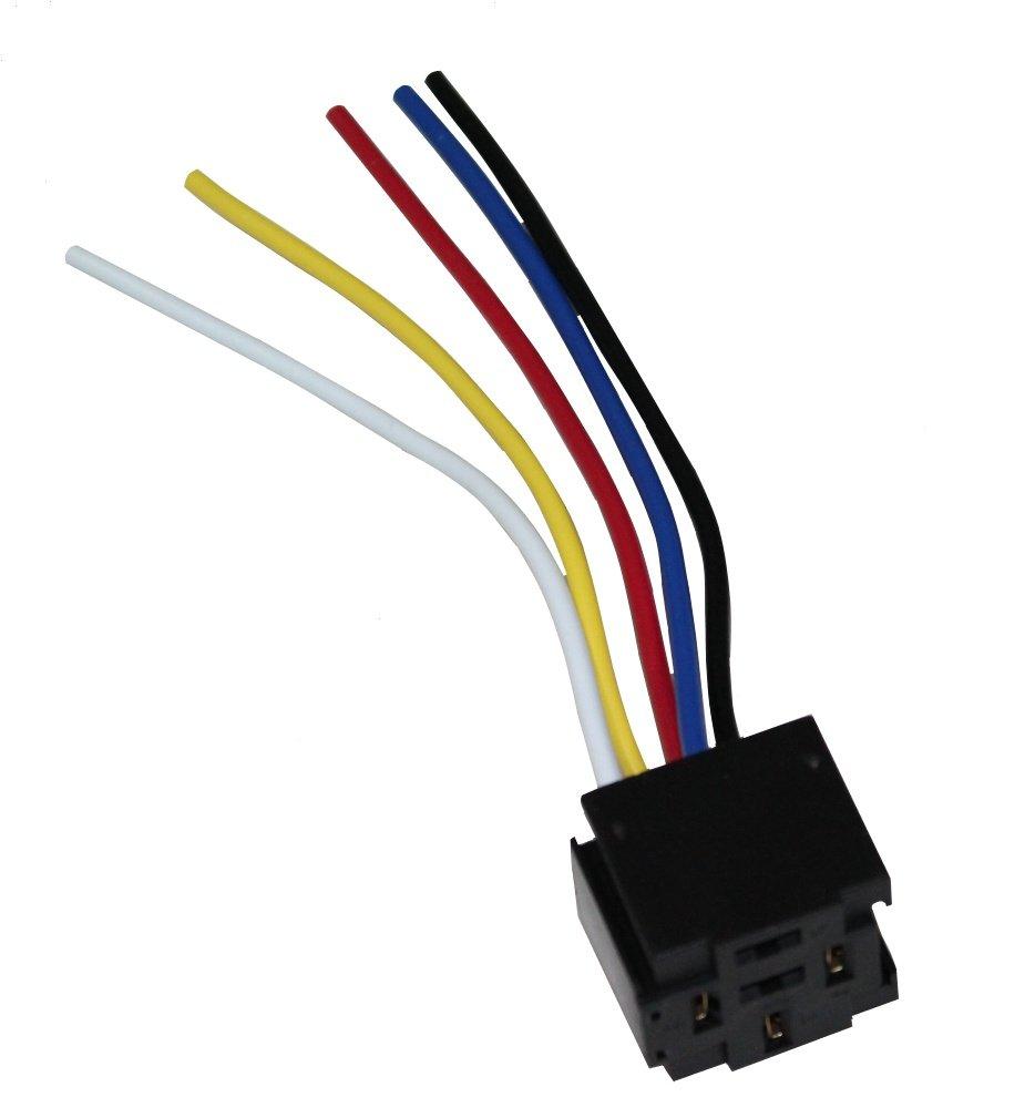 Aerzetix: Fiche connecteur pour relais porte-relais faisceau 4 ou 5 pins broches - C1236 3800946601111