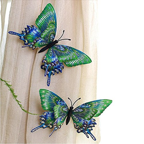 Tie Back Butterfly Curtain - EleCharm Ayygift 10pcs Artificial Three-Dimensional Butterfly Pin Curtain Accessory Decorative