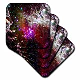 3dRose Lee Hiller Designs Space - In the Cosmos - Pacman Nebula - set of 8 Coasters - Soft (cst_61552_2)