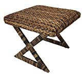 Seagrass Counter Stools BirdRock Home Seagrass Stool  Cushioned top