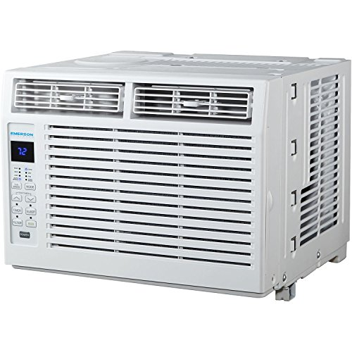 Emerson Quiet Kool EARC5RD1 5000 BTU 115V, White Window Air Conditioner with Remote Control, Standard ()