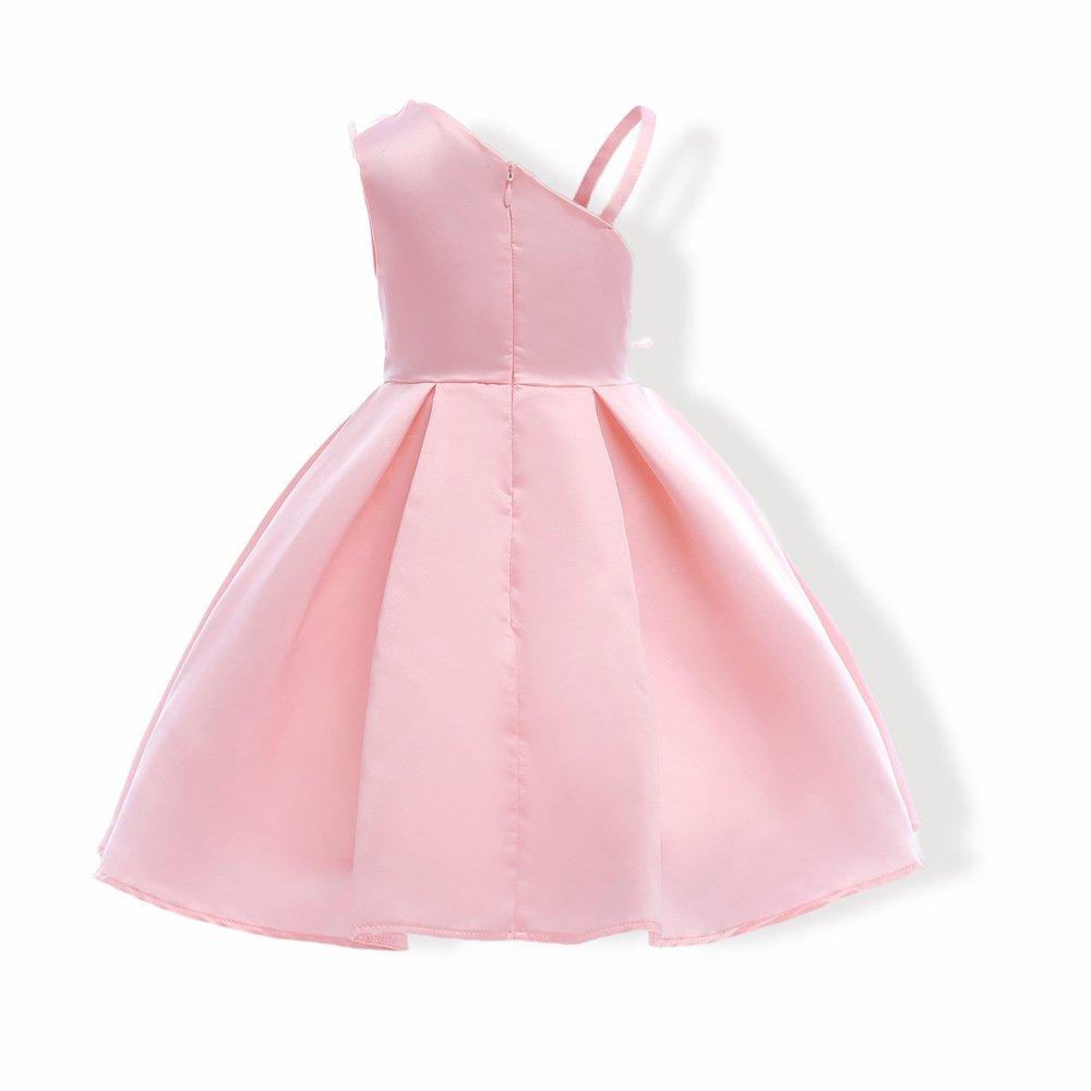 CHU Vestido de Flor de Cálida 08-rosa para Niña, Fiesta B00L5E2BLG ...