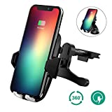 Wireless Car Charger, Auckly Qi Fast Wireless Car Charger Air Vent Car Mount and Suction Cup Mount for Samsung Galaxy S8 Plus S8 S7 S7 Edge Note 5, Standard Charger for iPhone X,iPhone 8/ 8 Plus