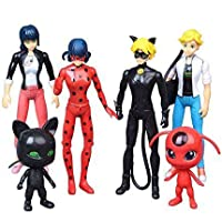 Miraculous Ladybug 6 pcs Action Figure Tikki Noir Cat Plagg Adrien Toys Gifts