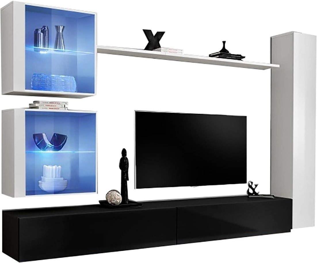 Concept Muebles Shift XVIII - Juego de armarios flotantes Seattle Line - Dos armarios de TV flotantes 95