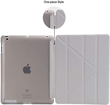para Apple iPad 2 3 4 Estuche GOLP Cover para New iPad 2 Flip Case para iPad 4 Smart Cover para iPad 3 Stand Holder Case-Grey: Amazon.es: Electrónica