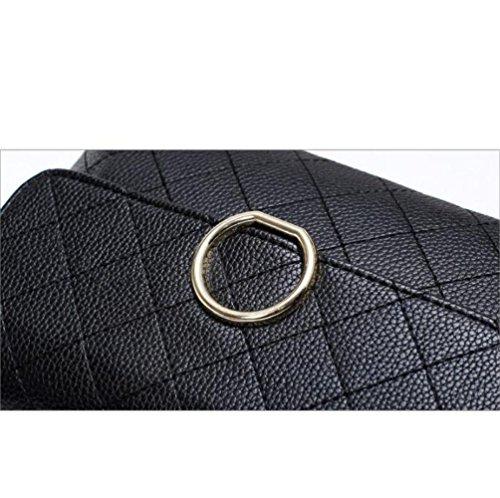 PU Bandoulière Womens Petit Sac Elegantblack Lingge Sac Bandoulière Fashion BAILIANG Carré à à Sac Main ICwddvq5