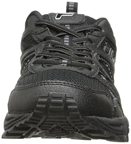 Shoe Ascente Metallic Black Black 15 Men's Running Silver Trail Fila XB4x7
