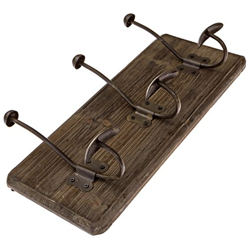 Avignon Rustic Coat Hook Vintage Coat Rack Towel Rack 16 inches wide and 7 inches high (Pack of 2) - Rustic Towel Racks