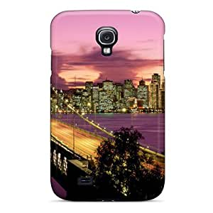 Tpu Mwaerke Shockproof Scratcheproof Bay Bridge San Francisco Hard Case Cover For Galaxy S4