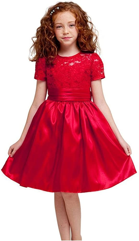 KID Collection Girls Red Flower Girl