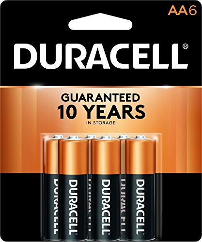 Duracell - CopperTop AA Alkaline Batteries - long lasting, all-purpose Double A battery for household and business - 6 count