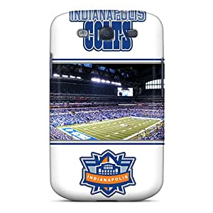 Shock Absorption Hard Cell-phone Case For Samsung Galaxy S3 With Allow Personal Design Vivid Indianapolis Colts Skin JasonPelletier