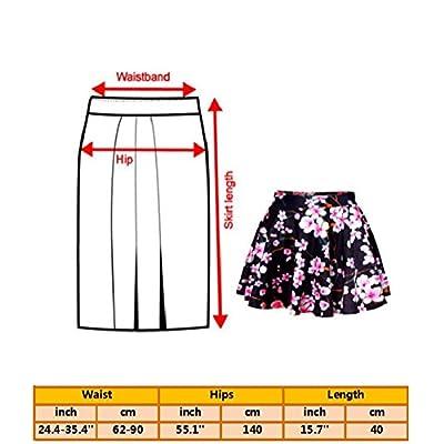 Alaroo Girls Emoji Sun and Monkey Print Light Blue Ruffle Flare Mini Skirt at Women's Clothing store
