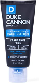 product image for Duke Cannon Supply Co. - Standard Issue Face Lotion, Unscented (2 oz) Superior Grade Face Moisturizer Cream for Men - Scent Free