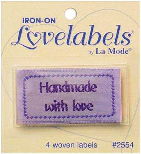 Iron-On Lovelabels 4/Pkg-Handmade With Love
