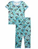 Esme Girl's Sleepwear Short Sleeve Top Leggings set 4 Monkey