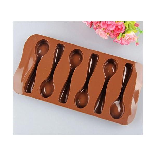 Stonges, 2 pezzi, stampo per dolci al cioccolato a forma di cucchiaio, stampo per gelato, stampo per cottura al forno 4 spesavip