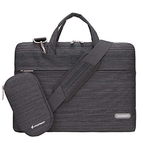 Clover - 11-11.6 Inch Laptop Briefcase Shoulder Bag Suit Fabric Portable Case for all 11-11.6 inch Notebook / Computer / MacBook Air 11.6-inch - Dark gray