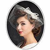 ● Usually you will get it for a week to 10 days. • One size fits most.This decorative can't be worn directly on the head,and it needs to be fixed on the hair with two clips or hair hoop. • Overly light and elegant Summer women hats kentucky derby rac...