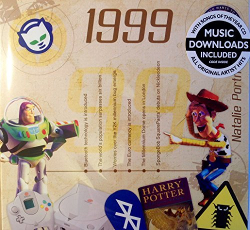 1999 BIRTHDAY or ANNIVERSARY GIFT - 1999 Compilation Music CD with 15 Original Chart Songs and 1999 Year Greeting (1999 Gift)