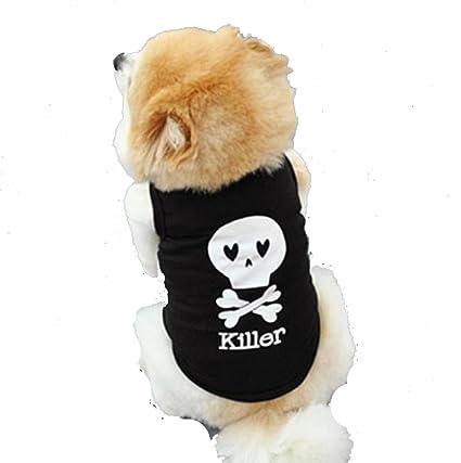 Sannysis Ropa para Perros Mascotas Gatos Accesorios Color Negro (XS)