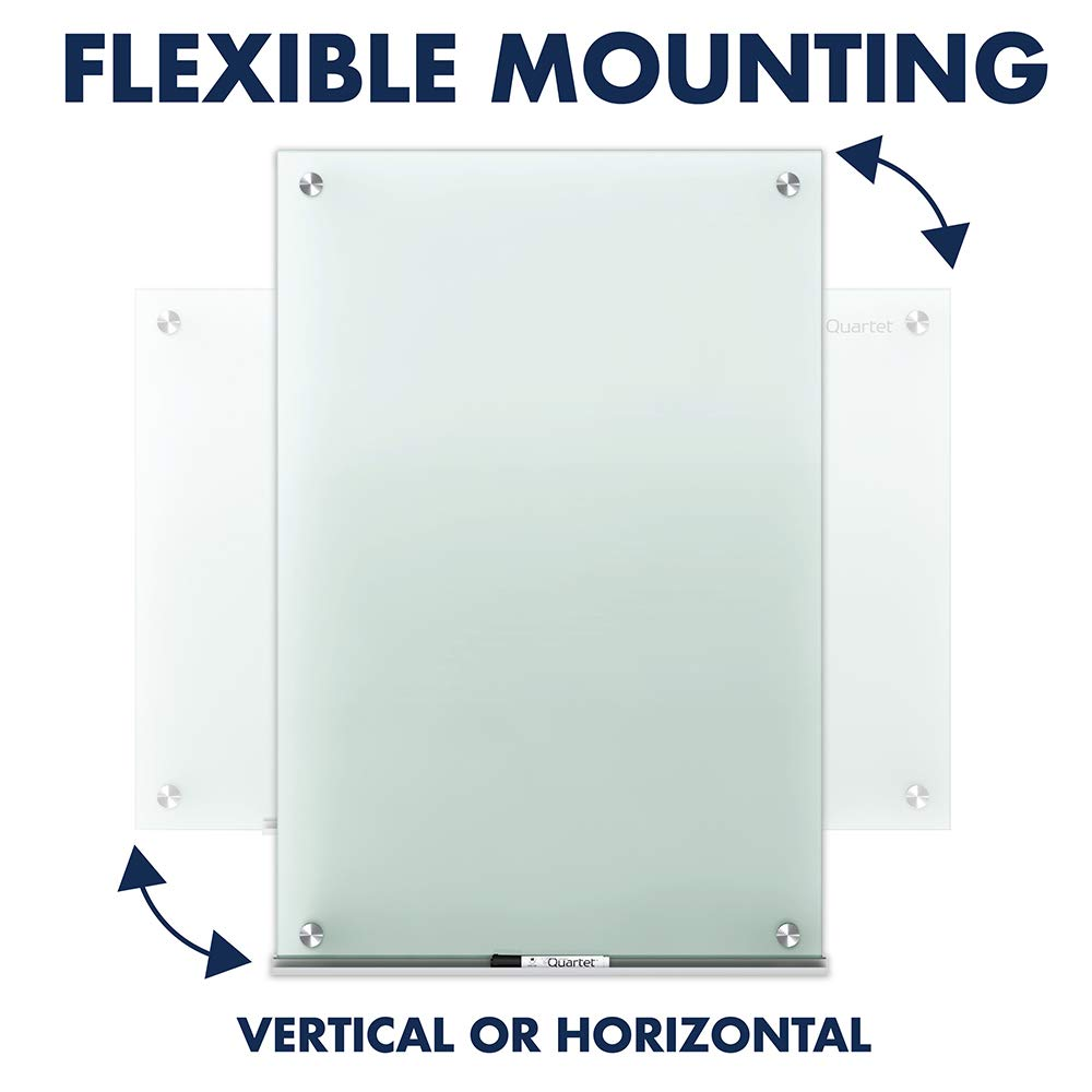 Quartet Glass Whiteboard, Non-Magnetic Dry Erase White Board, 8' x 4', Infinity, Frosted Surface (G9648F) by Quartet (Image #8)