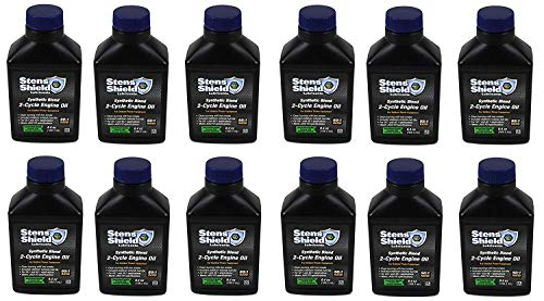Stens 770-642 Shield 2-Cycle Engine Oil, 50:1 Synthetic Blend, Pack Of 12