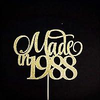 Made In 1988 Cake Topper, 30th Birthday Cake Topper, Thirty Cake Topper, 30 Cake Topper, 30th Party