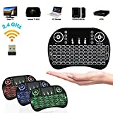 Ybee Mini 2.4Ghz 3 Colours Backlit Portable Wireless Keyboard Touchpad air mouse remote With Mouse For Pc, Pad, Xbox 360, Ps3, Google Android Tv Box, Htpc, Iptv, Raspberry Pi