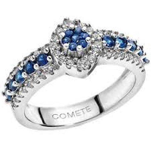 Bague Comete précieuse anb1496or blanc saphir
