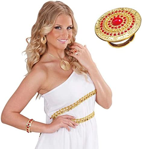 NET TOYS Anillo de Oro Antiguo de Romana Joyas Dedo Diosa Reina Oro Roma Oriental de Accesorios Vestuario: Amazon.es: Juguetes y juegos