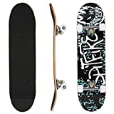 ANCHEER Pro Skateboard Complete - 31'' x 8'' Double Kick 9 Layer Canadian Maple Wood Tricks Skate Board for Beginner, Birthday Gift for Kids Boys Girls 5 Up Years Old