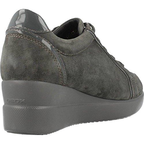 Calzado deportivo para mujer, color gris , marca GEOX, modelo Calzado Deportivo Para Mujer GEOX D STARDUST A Gris gris