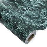 Glow4u Dark Blue Waterproof Marble Granite Look Contact Paper Self Adhesive Film Vinyl Kitchen CounterTop Backsplash Table Shelf Liner 24 by 196 Inches