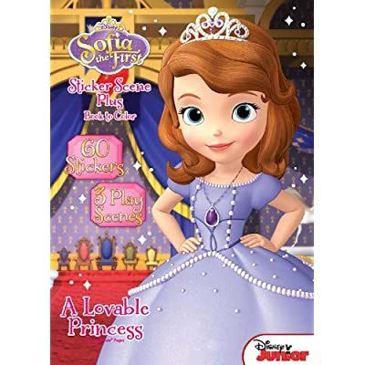Disney Junior Sofia the First: A Lovable Princess Sticker Book: Dalmatian Press: Toys & Games