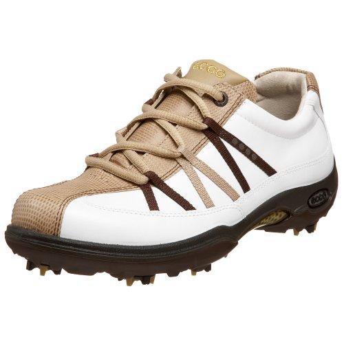 ECCO Women's Casual Pitch Premier Golf Shoe,Sand/White/Coffee,36 EU (US Women's 5-5.5 M) ()