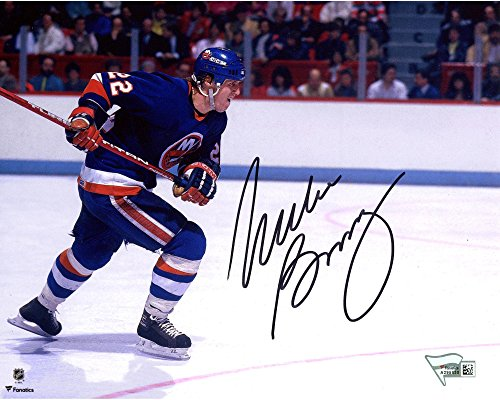 Blue Jersey Skating (Mike Bossy New York Islanders Autographed 8