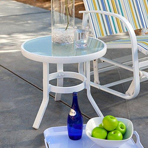 Coral Coast Del Rey 20 in. Patio Side Table Coral Coast Side Table