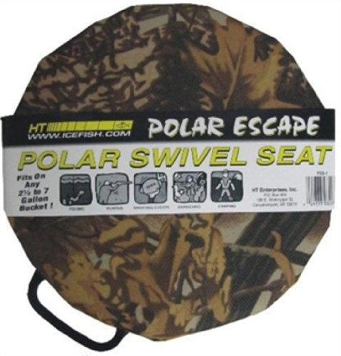 HT PSS-1 Polar Swivel Seat for 5-6 Gallon Buckets (Fishing Ice Seats)