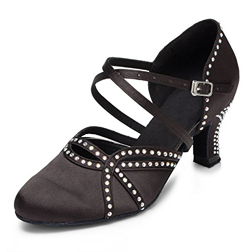 Heel Black Black Heel MiyooparkBallroom 6cm 6cm MiyooparkBallroom Donna Donna orWxBdCe