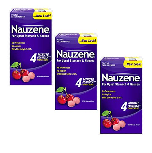 Nauzene For Nausea Relief Chewable Tablets, 40 Count (Pack of 3)