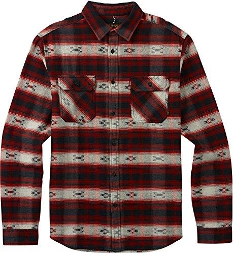 Burton Men's Brighton Burly Flannel Top, Fired Brick Azrek,
