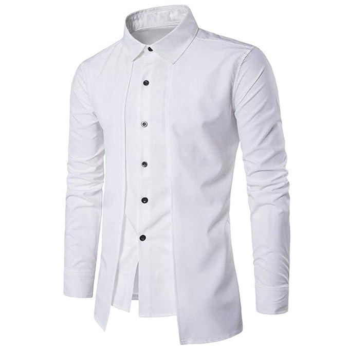 Top Classics Colletto Stand Camicie Business Uomo Camicia by76gYf