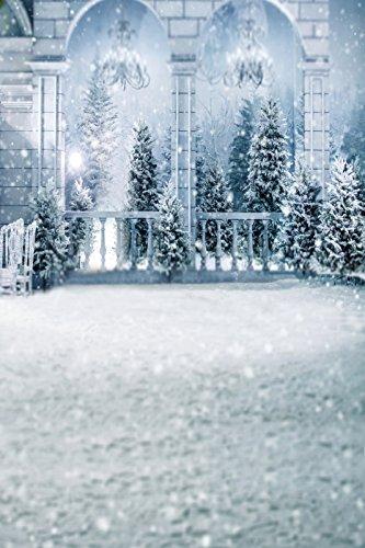WCIC 写真背景布 3x5フィート 冬 雪 森 写真 スタジオ背景 クリスマス 背景 小道具 5x7feet. WSA00469B 5x7feet. Style#12 B072FN2FBR