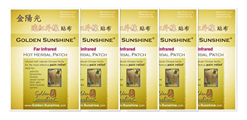 Golden Sunshine - Far Infrared Hot Herbal Patch - 5 Pack by Golden Sunshine