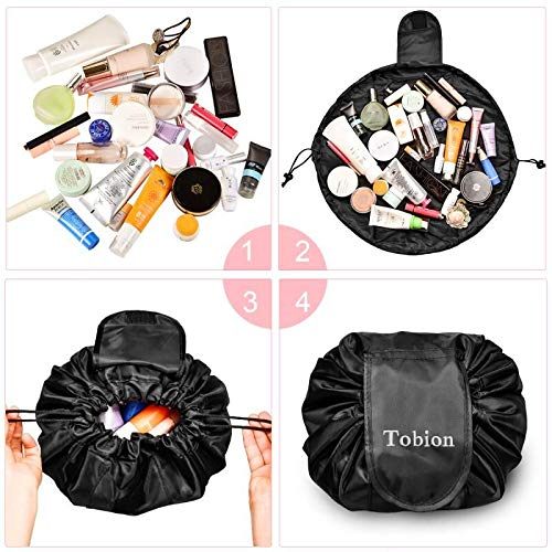 554698cb6a60 Lazy Portable Makeup Bag Large Capacity Waterproof Drawstring ...